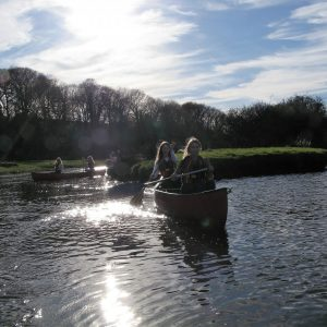 Canoeing on the Cleddau Pembrokeshire Wales with The Real Adventure Company