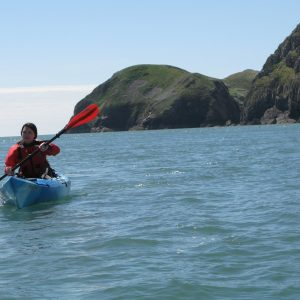 Sea Kayaking in St Davids Pembrokeshire Wales with The Real Adventure Company